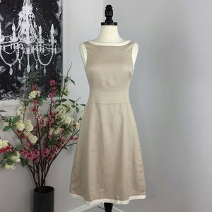 L.K.Bennett Linen June Dress NWT in Soft Biscuit